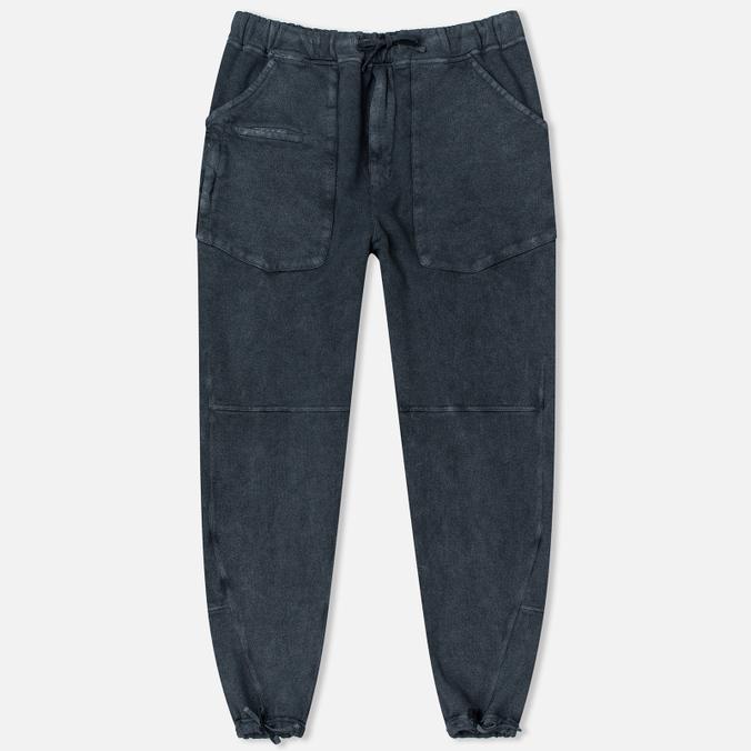 Stone Island Shadow Project Joggers Gauzed Cotton Fleece Men`s Trousers Steel Grey