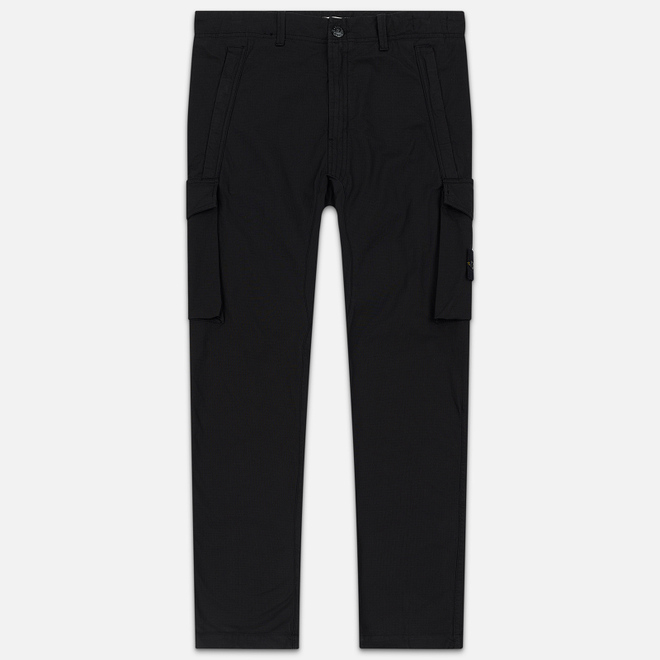 Мужские брюки Stone Island Slim Fit Brushed Stretch Twill Black