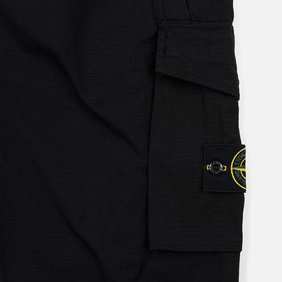 Мужские брюки Stone Island Slim Fit Brushed Stretch Twill Black
