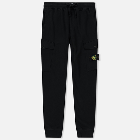 Мужские брюки Stone Island T.CO+OLD Brushed Cotton Fleece Black