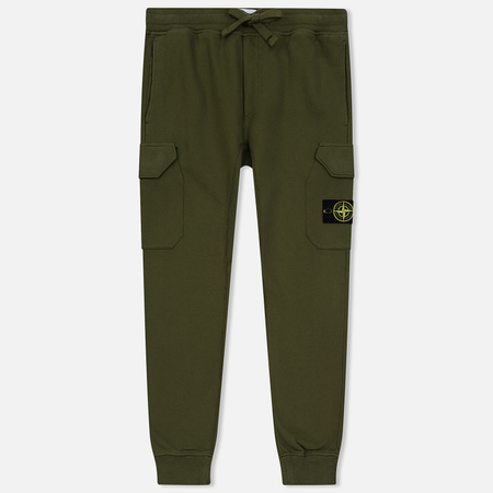 Мужские брюки Stone Island T.CO+OLD Brushed Cotton Fleece Olive Green