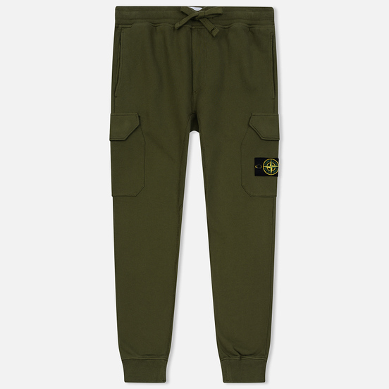 Мужские брюки Stone Island T.CO+OLD Brushed Cotton Fleece Olive Green