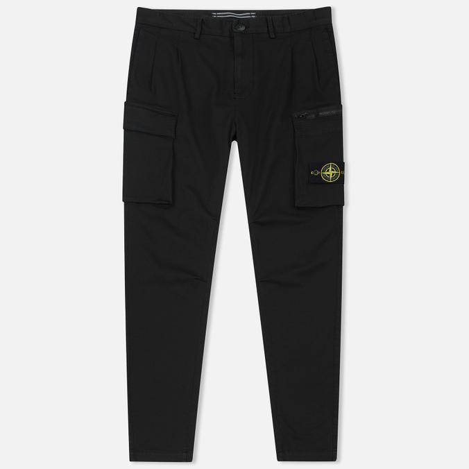Мужские брюки Stone Island T.CO+OLD Cargo Black
