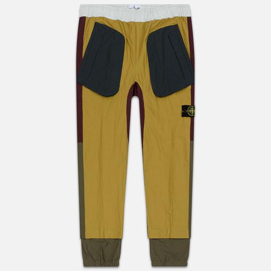 Мужские брюки Stone Island Tela Placcata Bicolore Mustard