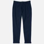 Universal Works Aston Panama Cotton Men's Trousers Navy photo- 0