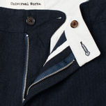 Мужские брюки Universal Works Aston Penny Wool Navy фото- 1