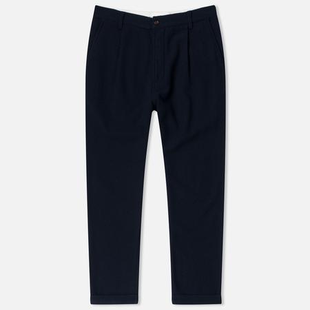 Universal Works Pleat Wool Twill Men's Trousers Navy