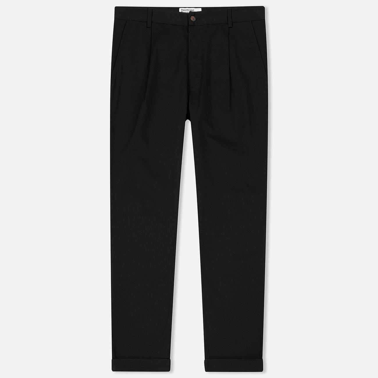 Мужские брюки Universal Works Pleated Twill Black