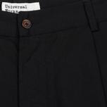 Мужские брюки Universal Works Pleated Twill Black фото- 1