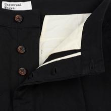 Мужские брюки Universal Works Pleated Twill Black фото- 2
