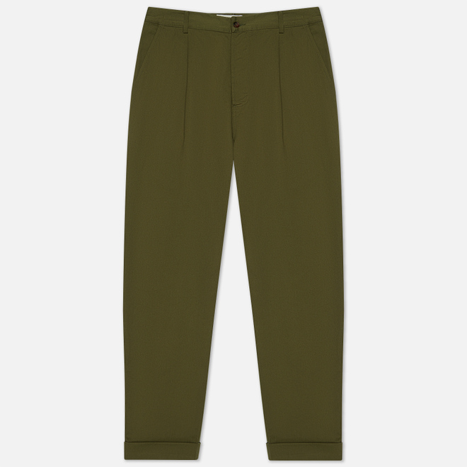 Мужские брюки Universal Works Pleated Twill Light Olive
