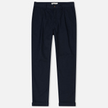 Мужские брюки Universal Works Pleated Twill Navy фото- 0