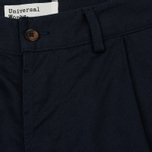 Мужские брюки Universal Works Pleated Twill Navy фото- 2