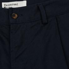 Мужские брюки Universal Works Pleated Twill Navy фото- 2