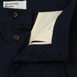 Мужские брюки Universal Works Pleated Twill Navy фото- 1