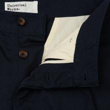Мужские брюки Universal Works Pleated Twill Navy фото- 1