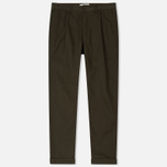Мужские брюки Universal Works Pleated Twill Olive фото- 0