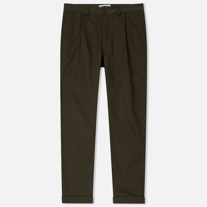Мужские брюки Universal Works Pleated Twill Olive