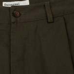 Мужские брюки Universal Works Pleated Twill Olive фото- 2