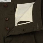 Мужские брюки Universal Works Pleated Twill Olive фото- 1