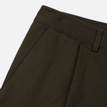 Мужские брюки Universal Works Pleated Twill Olive фото- 4