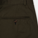 Мужские брюки Universal Works Pleated Twill Olive фото- 3