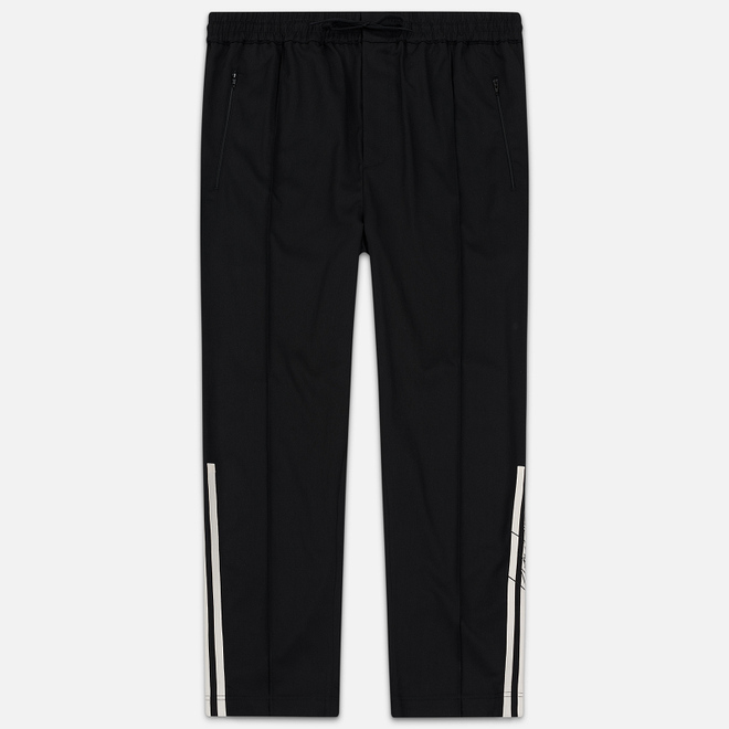 Мужские брюки Y-3 3 Stripes Wool Satin Wide Black/Ecru/Black