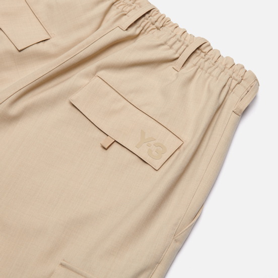 Мужские брюки Y-3 Classic Refined Wool Stretch Cargo Stone Khaki