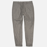 YMC Slim Fit Wool Flannel Men`s Trousers Grey photo- 0