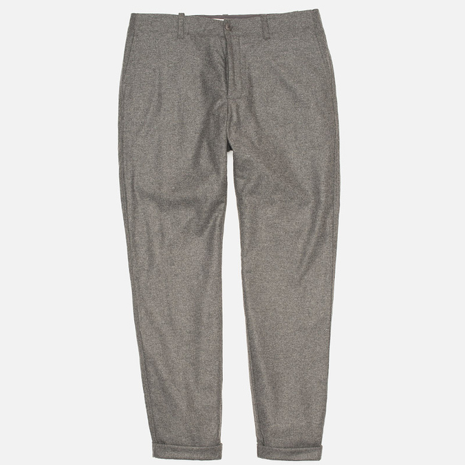 YMC Slim Fit Wool Flannel Men`s Trousers Grey