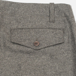 YMC Slim Fit Wool Flannel Men`s Trousers Grey photo- 1