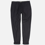 YMC Slim Fit Wool Flannel Men`s Trousers Navy photo- 0