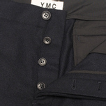 YMC Slim Fit Wool Flannel Men`s Trousers Navy photo- 3