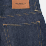 Мужские джинсы Carhartt WIP Kennedy 12.8 Oz Blue Rigid фото- 3