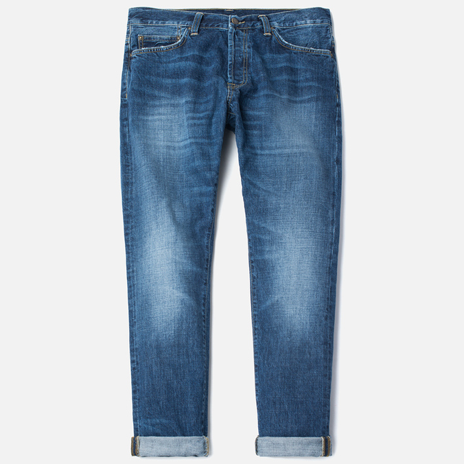 Мужские джинсы Carhartt WIP Klondike 2 12 Oz Blue Gravel Washed