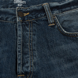 Мужские джинсы Carhartt WIP Klondike 12 Oz Blue Dark Coast Washed фото- 1