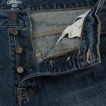 Мужские джинсы Carhartt WIP Klondike 12 Oz Blue Dark Coast Washed фото- 2