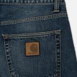 Мужские джинсы Carhartt WIP Klondike 12 Oz Blue Dark Coast Washed фото- 4