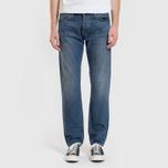 Мужские джинсы Carhartt WIP Klondike 12 Oz Blue Dark Coast Washed фото- 5