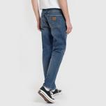Мужские джинсы Carhartt WIP Klondike 12 Oz Blue Dark Coast Washed фото- 6