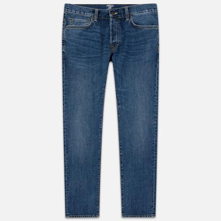 Мужские джинсы Carhartt WIP Klondike 12 Oz Blue Mid Worn Wash