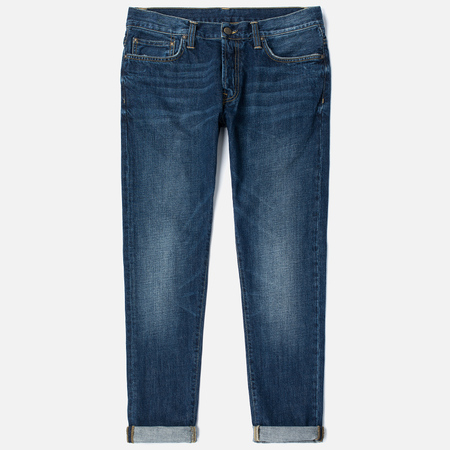 Мужские джинсы Carhartt WIP Klondike 12 Oz Blue Natural Dark Washed