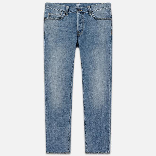 Мужские джинсы Carhartt WIP Klondike 12 Oz Worn Bleached Blue