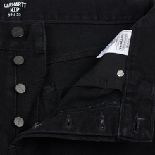Мужские джинсы Carhartt WIP Klondike 13.5 Oz Black Rinsed фото- 2