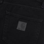 Мужские джинсы Carhartt WIP Klondike 13.5 Oz Black Rinsed фото- 4