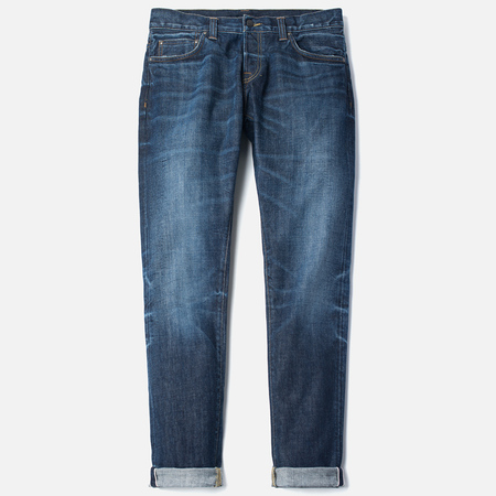 Carhartt WIP Privateer Selvedge 10 Oz Men's Jeans Blue Dark Squall Washed