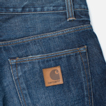 Мужские джинсы Carhartt WIP Privateer Selvedge 10 Oz Blue Dark Squall Washed фото- 3