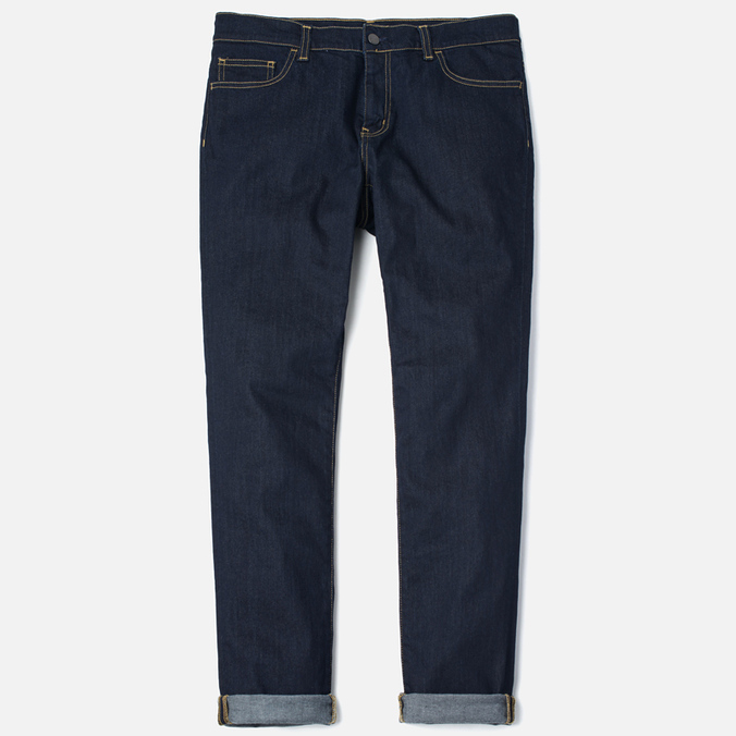 Мужские джинсы Carhartt WIP Riot 10 Oz Blue Rinsed