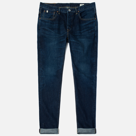 Edwin Classic Regular Straight Rainbow Selvedge Japan 13 Oz Men's Jeans Dark Used