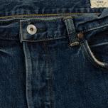 Мужские джинсы Edwin Classic Regular Tapered Rainbow Selvage Japan Denim 13 Oz Mid Dark Used фото- 2